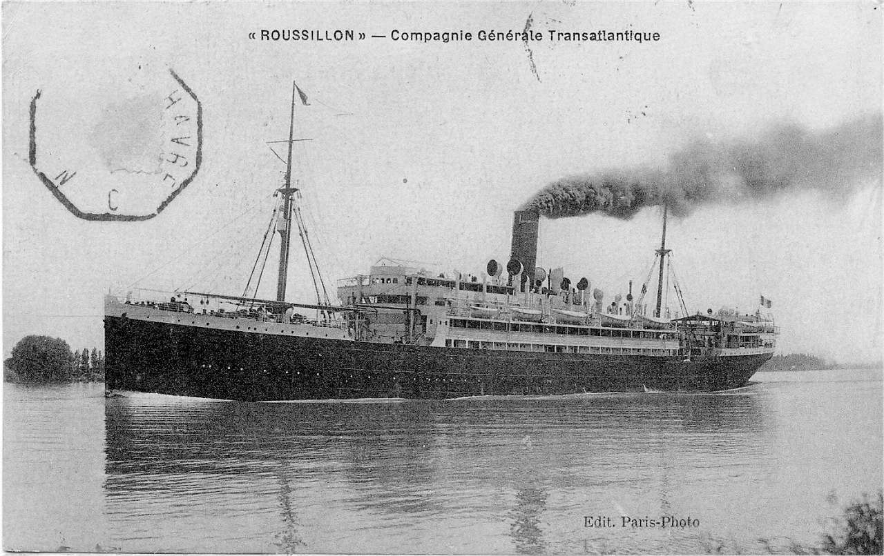 histoire du paquebot transatlantique le roussillon