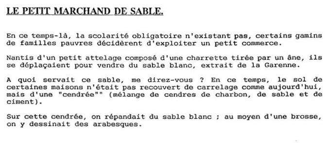 article de journal sur les marchands de sable
