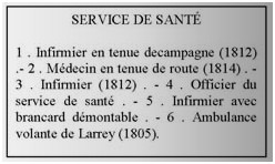 uniformes des soldats d'ambulance
