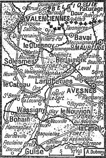 carte de la libération de Wargnies le Grand