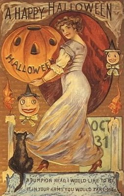 carte postale ancienne halloween